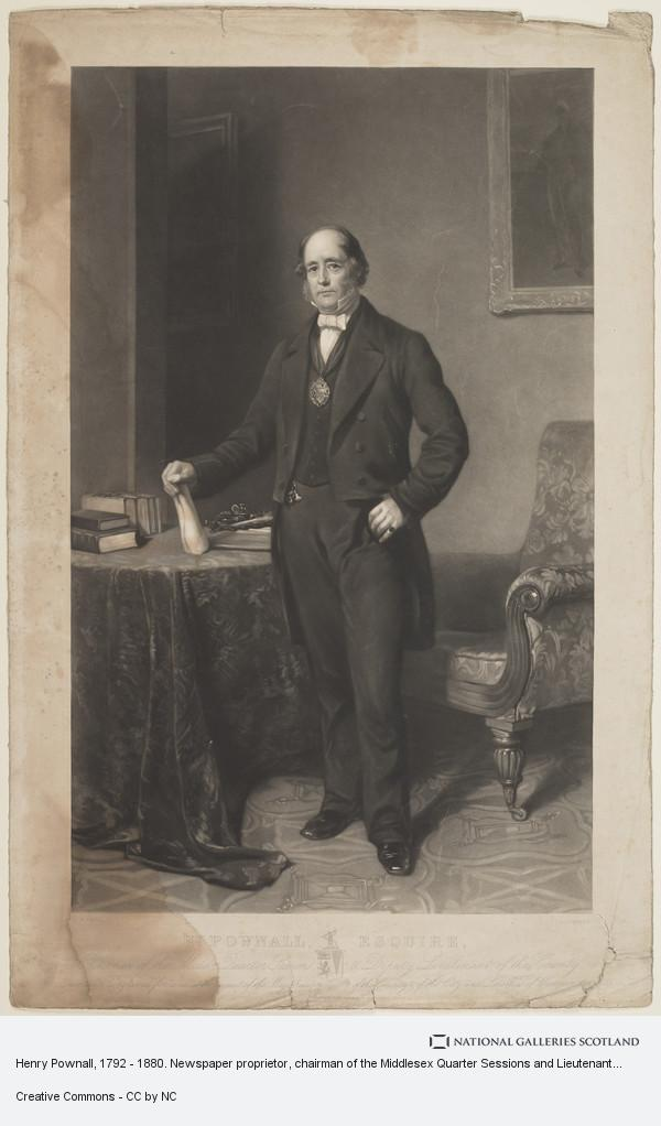 Jean Ferdinand Joubert, Henry Pownall, Esq., Chairman of the Middlesex Quarter Sessions and Lieutenant of the County