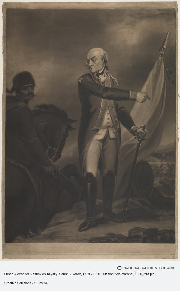 Haveill Gillbank, Prince Alexander Vasilievich Italysky, Count Suvorov, 1729 - 1800. Russian field-marshal