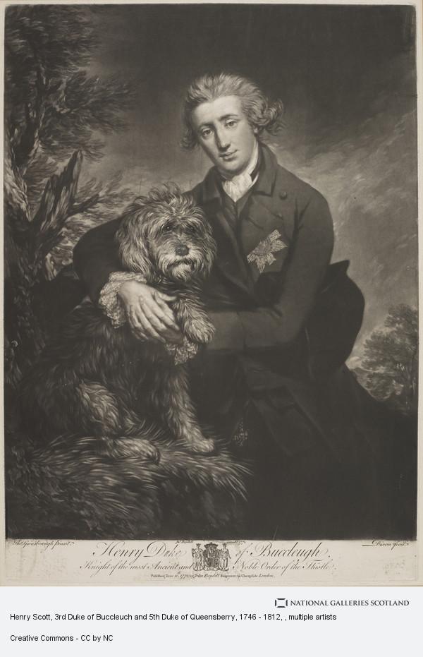 John Dixon, Henry Scott, 3rd Duke of Buccleuch and 5th Duke of Queensberry, 1746 - 1812