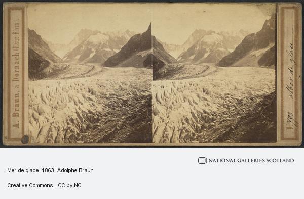 Adolphe Braun, Mer de glace