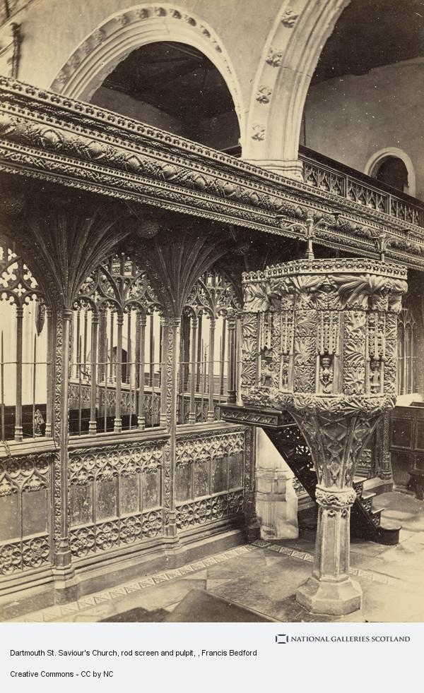 Francis Bedford, Dartmouth St. Saviour's Church, rod screen and pulpit
