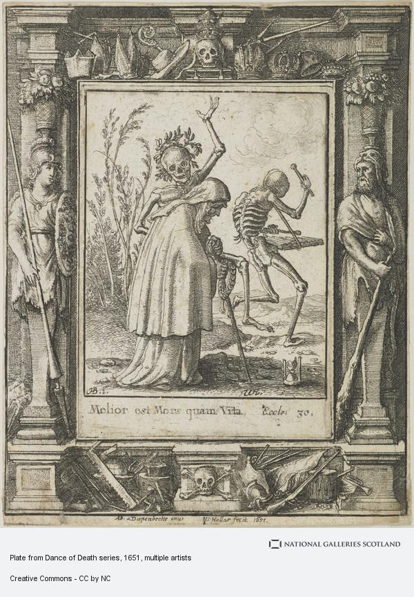 Wenceslaus Hollar, Plate from Dance of Death series