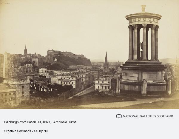 Archibald Burns, Edinburgh from Calton Hill, 1869