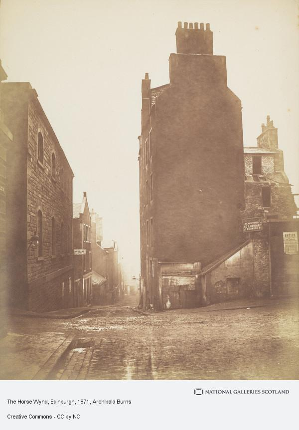 Archibald Burns, The Horse Wynd, Edinburgh