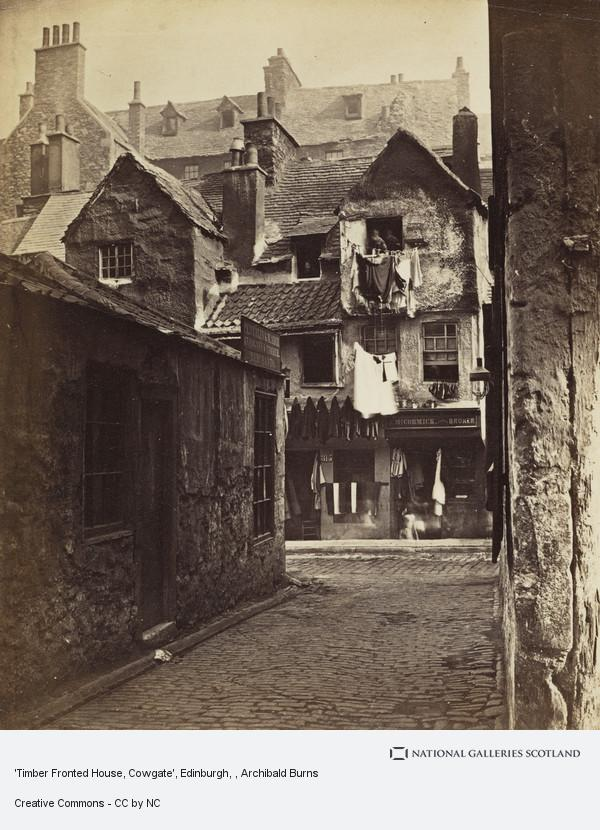 Archibald Burns, 'Timber Fronted House, Cowgate', Edinburgh