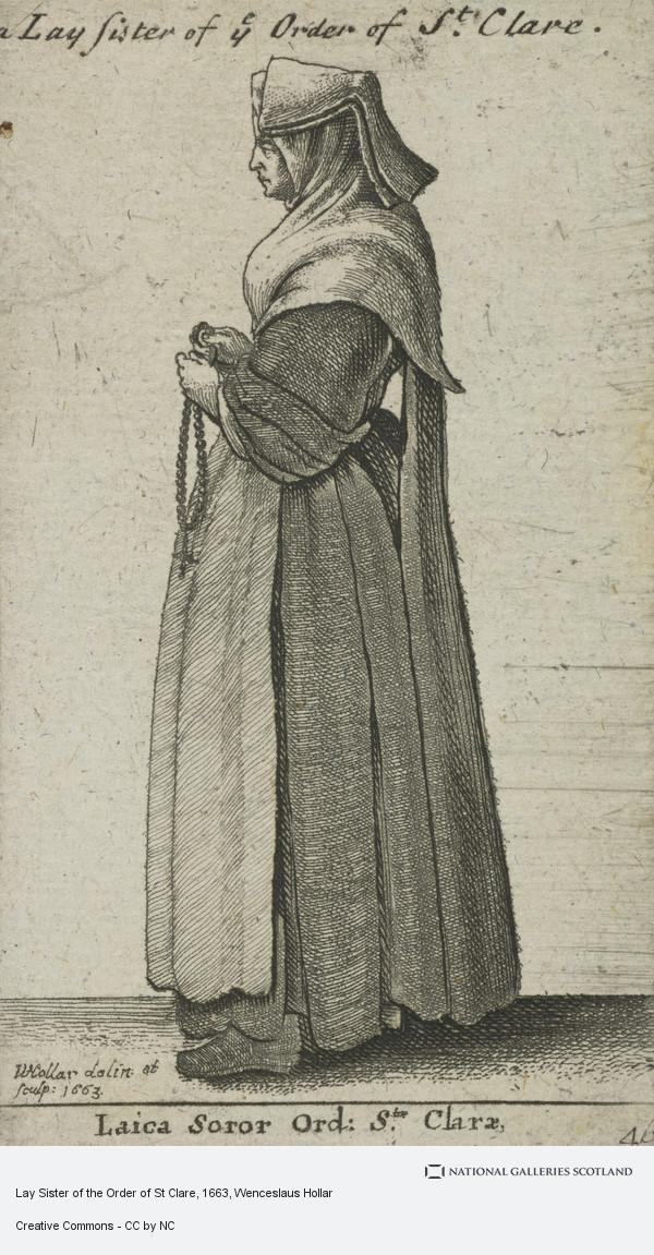Wenceslaus Hollar, Lay Sister of the Order of St Clare