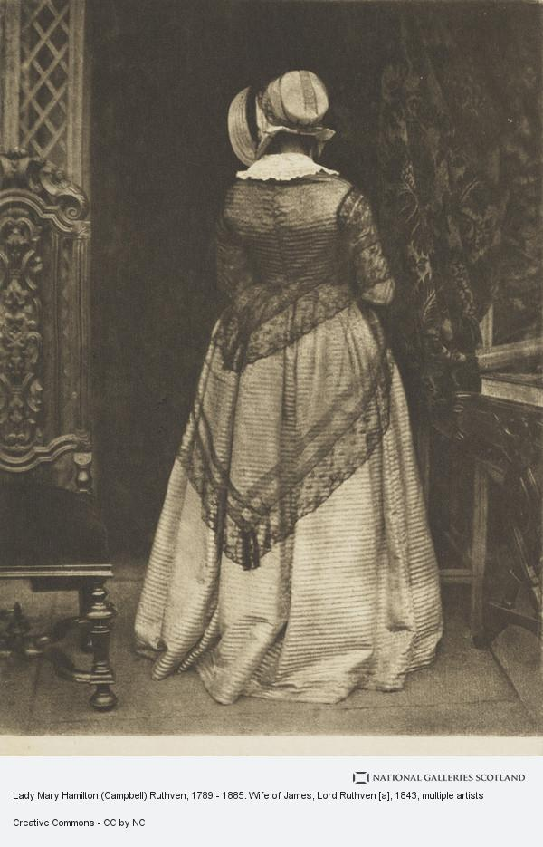 James Craig Annan, Lady Mary Hamilton (Campbell) Ruthven, 1789 - 1885. Wife of James, Lord Ruthven [a]