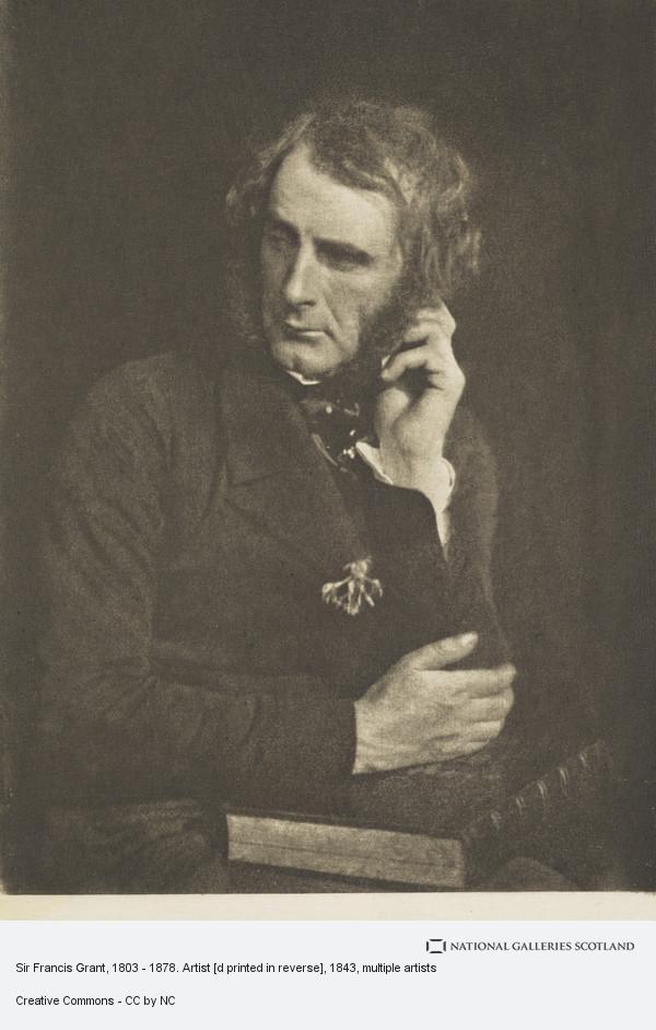 James Craig Annan, Sir Francis Grant, 1803 - 1878. Artist [d printed in reverse]