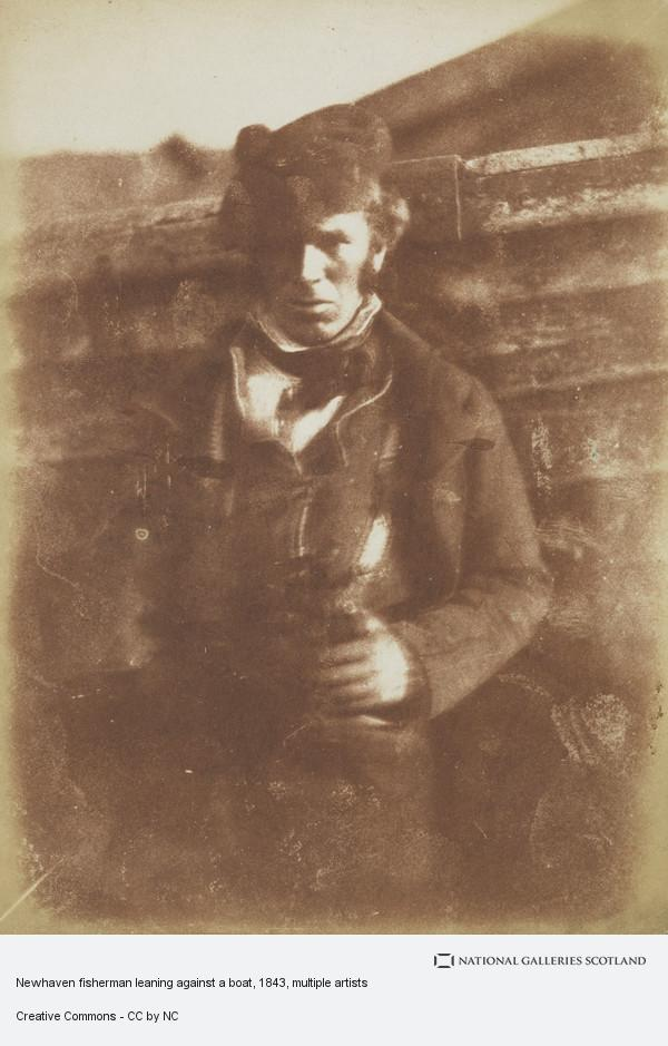 David Octavius Hill, Newhaven fisherman leaning against a boat