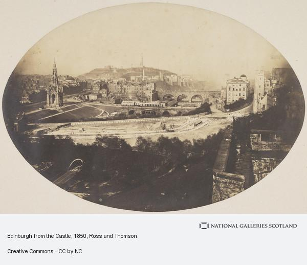 Ross and Thomson, Edinburgh from the Castle (About 1850)