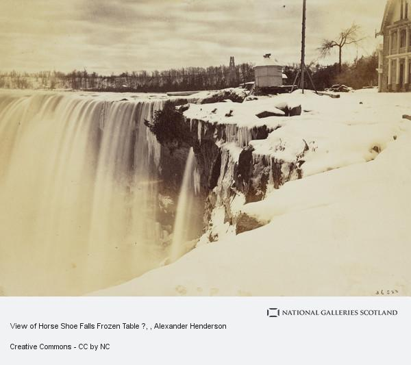 Alexander Henderson, View of Horse Shoe Falls Frozen Table ?