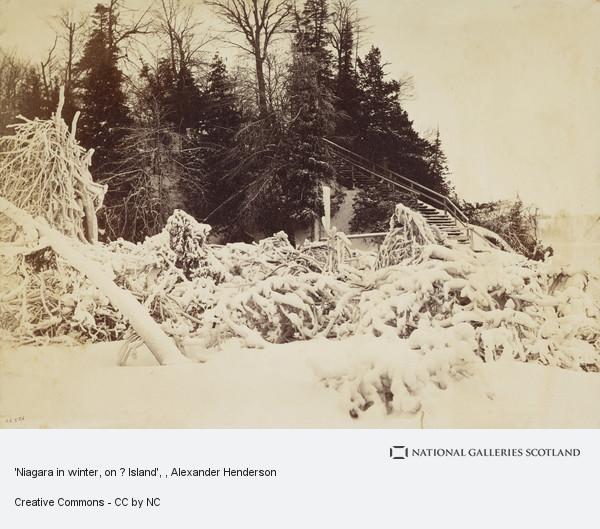 Alexander Henderson, 'Niagara in winter, on ? Island'