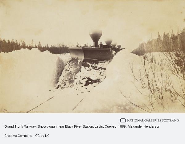 Alexander Henderson, Grand Trunk Railway: Snowplough near Black River Station, Levis, Quebec