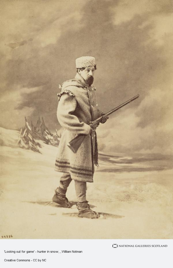 William Notman, 'Looking out for game' - hunter in snow
