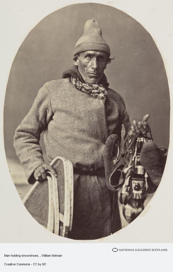 William Notman, Man holding snowshoes