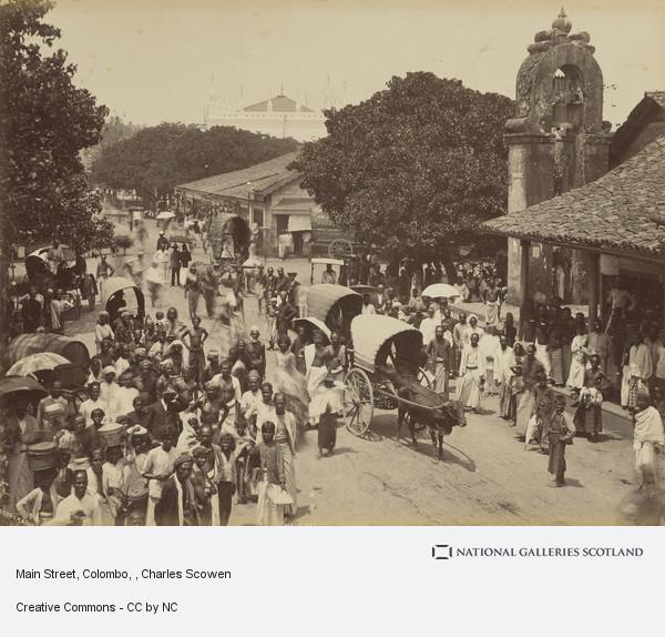 Charles Scowen, Main Street, Colombo