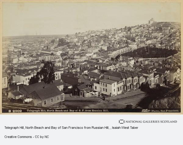 Isaiah West Taber, Telegraph Hill, North Beach and Bay of San Francisco from Russian Hill