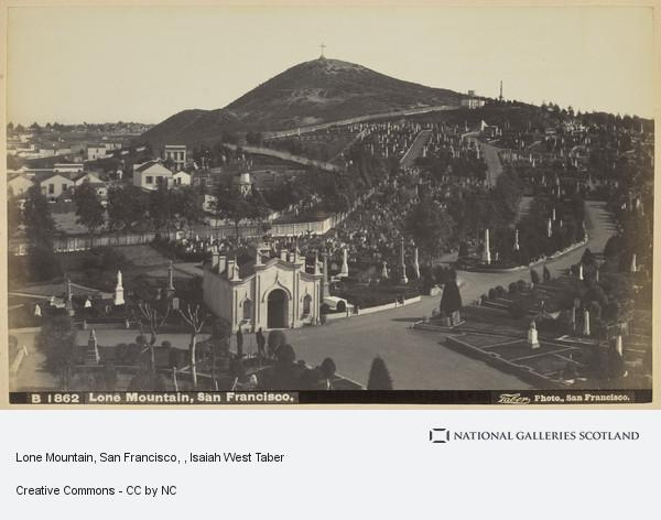 Isaiah West Taber, Lone Mountain, San Francisco