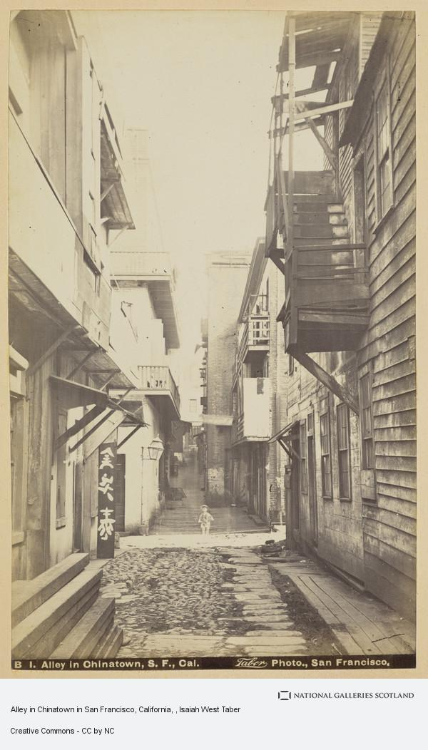 Isaiah West Taber, Alley in Chinatown in San Francisco, California