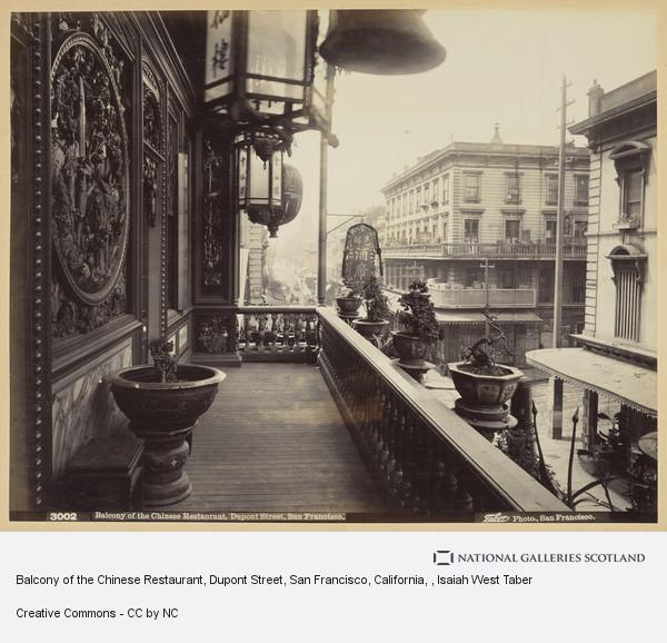 Isaiah West Taber, Balcony of the Chinese Restaurant, Dupont Street, San Francisco, California