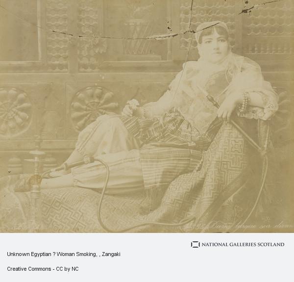 Zangaki, Unknown Egyptian ? Woman Smoking