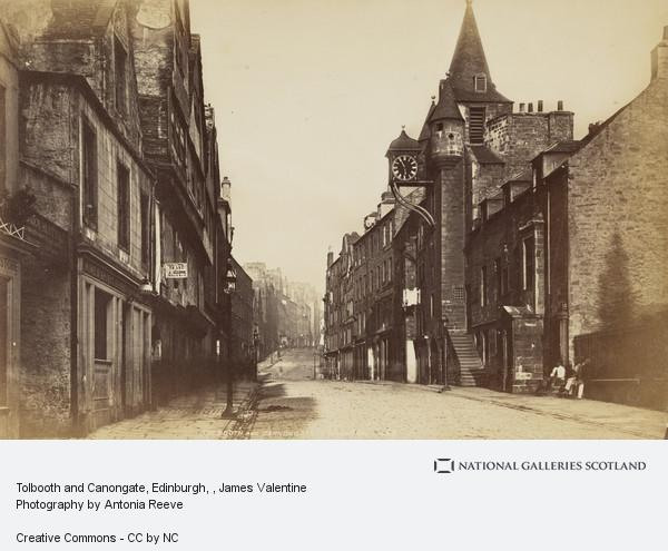 James Valentine, Tolbooth and Canongate, Edinburgh
