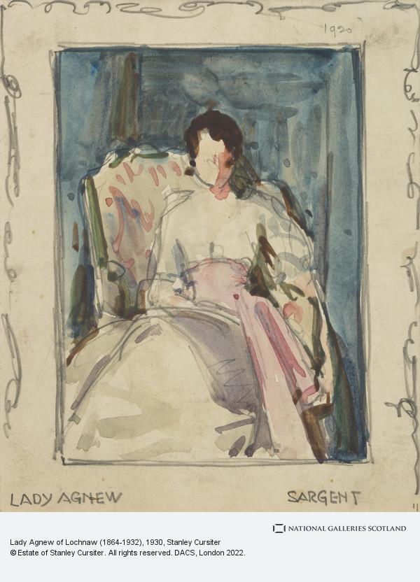 Stanley Cursiter, Lady Agnew of Lochnaw (1864-1932)