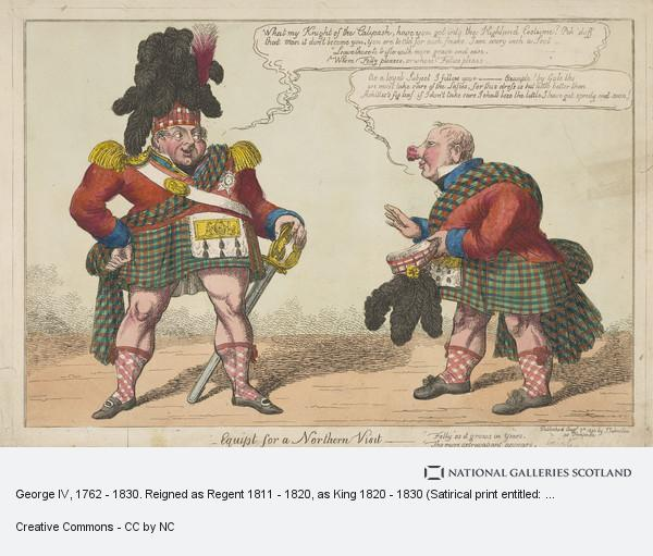 C. Williams, George IV, 1762 - 1830. Reigned as Regent 1811 - 1820, as King 1820 - 1830 (Satirical print entitled: