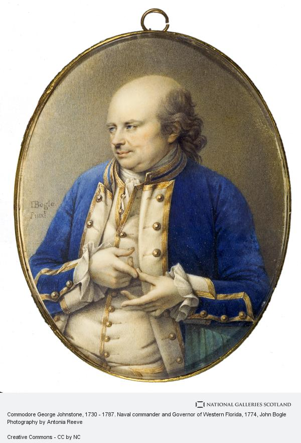John Bogle, Commodore George Johnstone, 1730 - 1787. Naval commander and Governor of Western Florida