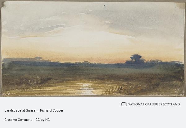 Richard Cooper, Landscape at Sunset