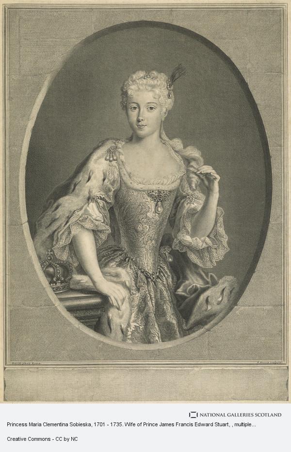 Pierre-Imbert Drevet, Princess Maria Clementina Sobieska, 1702 - 1735. Wife of Prince James Francis Edward Stuart