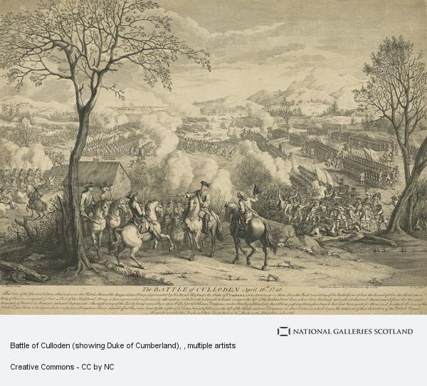 Luke Sullivan, Battle of Culloden (showing Duke of Cumberland)