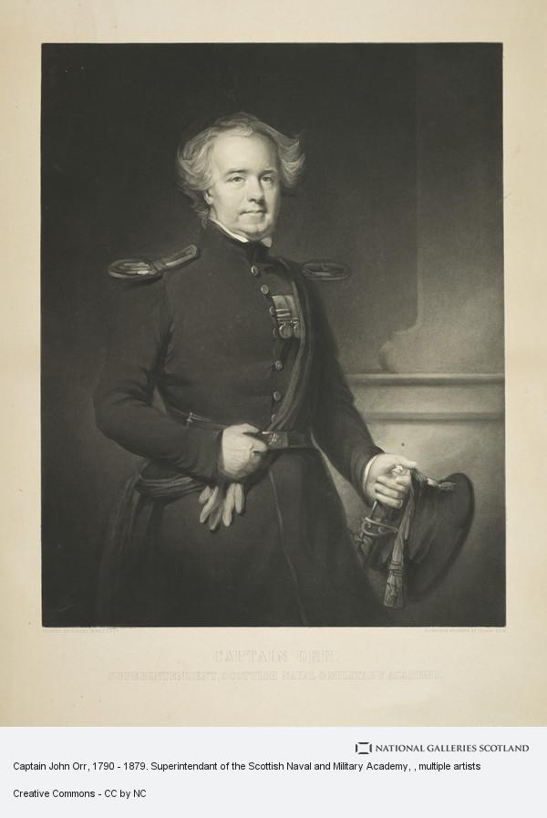 Thomas Dick, Captain John Orr, 1790 - 1879. Superintendant of the Scottish Naval and Military Academy