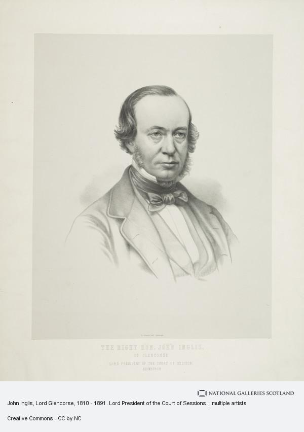 William Brodie, John Inglis, Lord Glencorse, 1810 - 1891. Lord President of the Court of Sessions