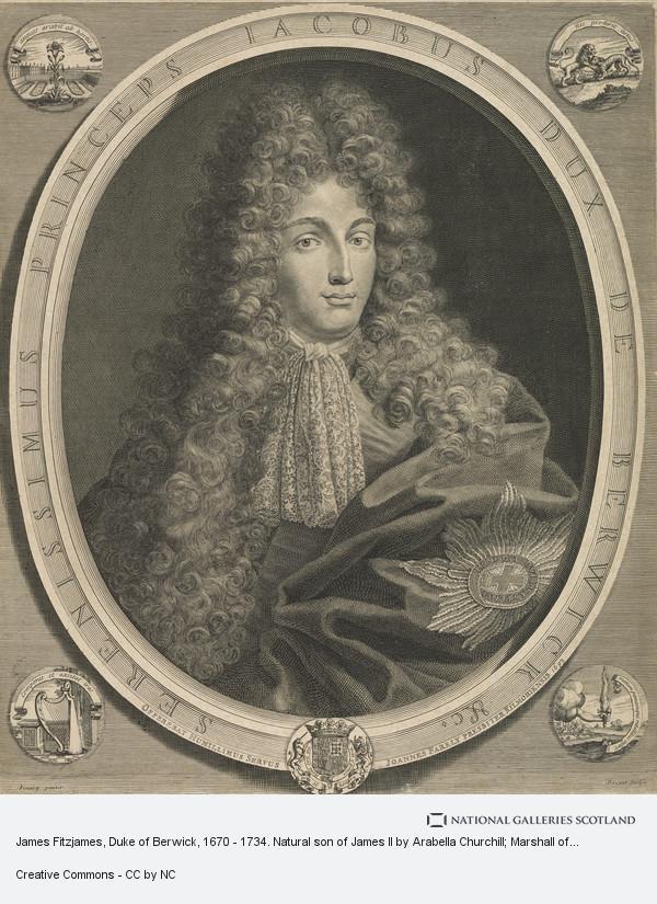 Petrus Drevet, James Fitzjames, Duke of Berwick, 1670 - 1734. Natural son of James II by Arabella Churchill; Marshall of France
