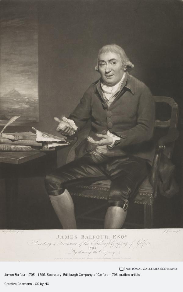 J. Jones, James Balfour, 1705 - 1795. Secretary, Edinburgh Company of Golfers