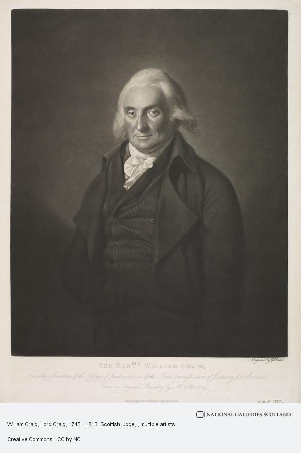 George Dawe, William Craig, Lord Craig, 1745 - 1813. Scottish judge