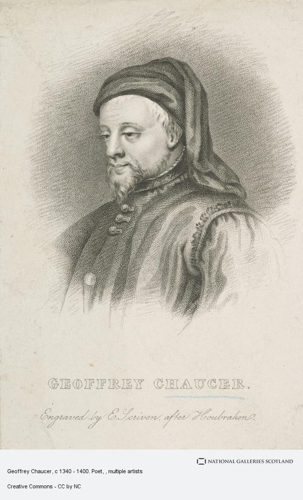 Edward Scriven, Geoffrey Chaucer, c 1340 - 1400. Poet