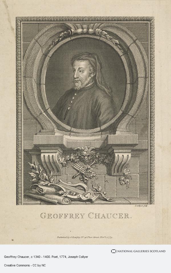 Joseph Collyer, Geoffrey Chaucer, c 1340 - 1400. Poet