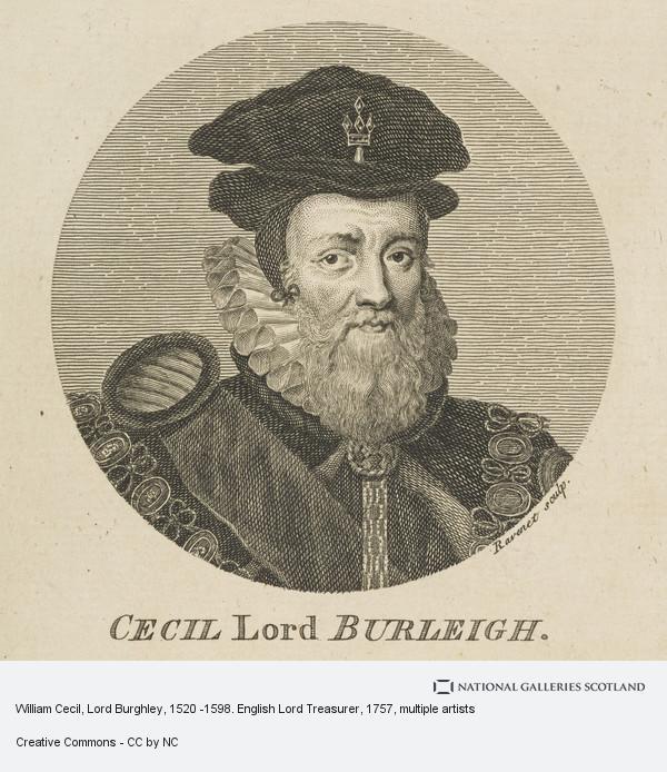 S.J. Ravenet, William Cecil, Lord Burghley, 1520 -1598. English Lord Treasurer