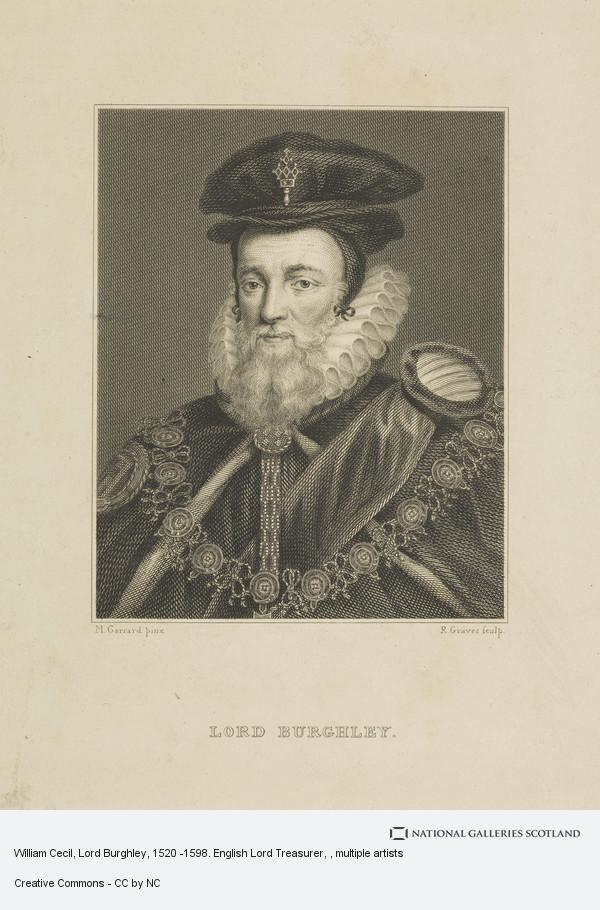 Robert Graves, William Cecil, Lord Burghley, 1520 -1598. English Lord Treasurer