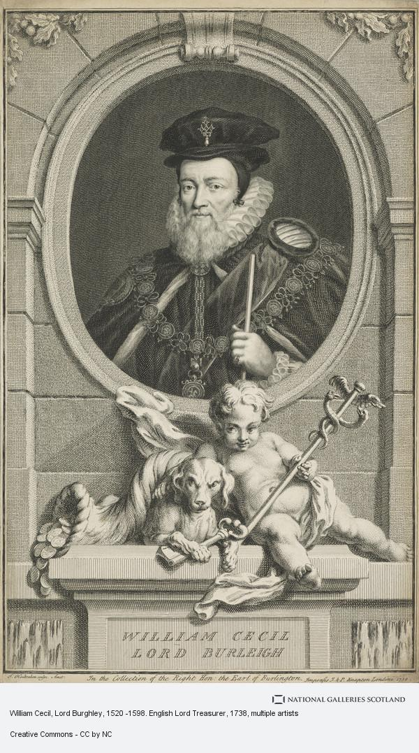 Jacobus Houbraken, William Cecil, Lord Burghley, 1520 -1598. English Lord Treasurer