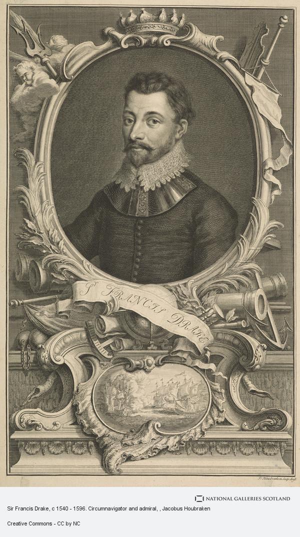 Jacobus Houbraken, Sir Francis Drake, c 1540 - 1596. Circumnavigator and admiral
