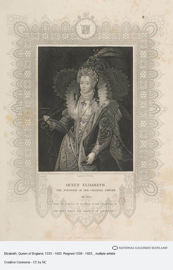 Federico Zuccaro, Elizabeth, Queen of England, 1533 - 1603. Reigned 1558 - 1603