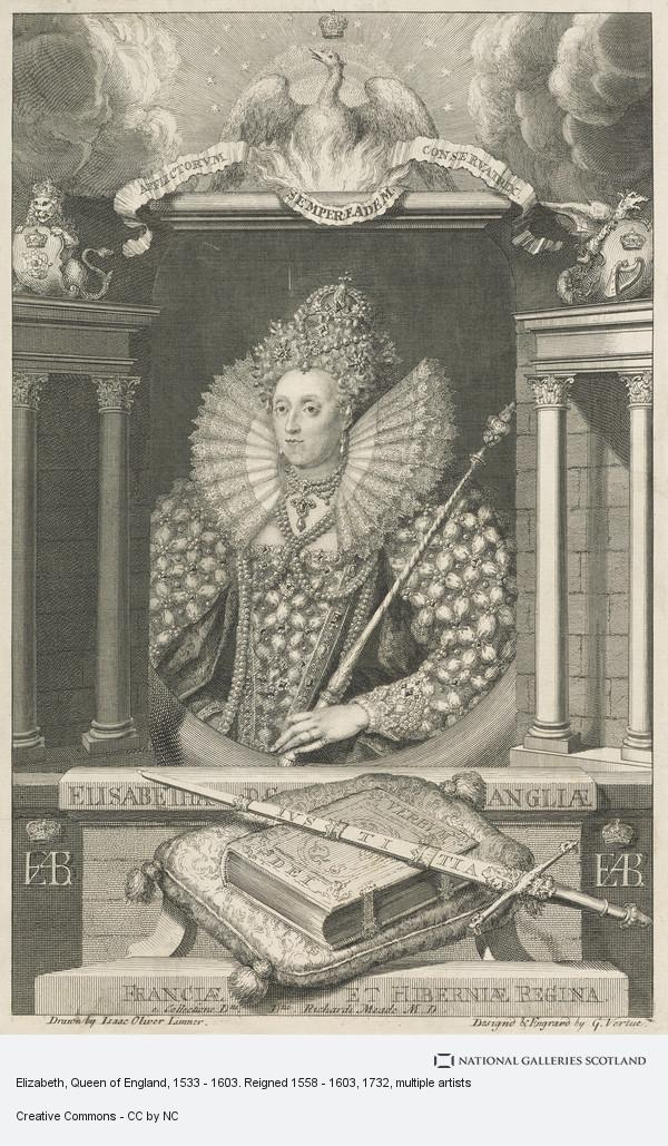 Isaac Oliver, Elizabeth, Queen of England, 1533 - 1603. Reigned 1558 - 1603