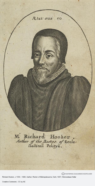 Wenceslaus Hollar, Richard Hooker, c 1554 - 1600. Author; Rector of Bishopsbourne, Kent