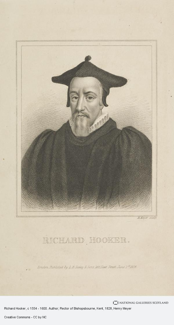 Henry Meyer, Richard Hooker, c 1554 - 1600. Author; Rector of Bishopsbourne, Kent