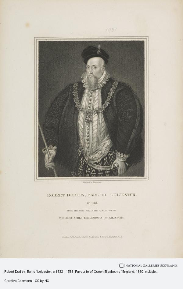 John Cochran, Robert Dudley, Earl of Leicester, c 1532 - 1588. Favourite of Queen Elizabeth of England