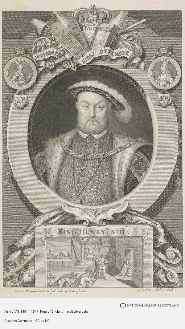 George Vertue, Henry VIII, 1491 - 1547. King of England
