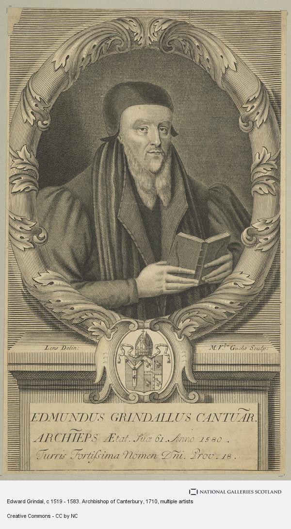 Michael van der Gucht, Edward Grindal, c 1519 - 1583. Archbishop of Canterbury